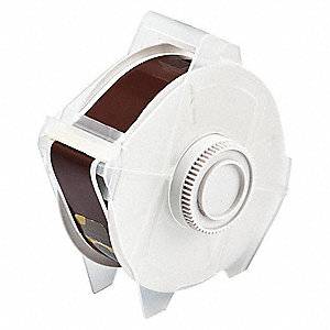 "Outdoor Polyester Label Tape Cartridge, Brown, 1-1/8""W x 100 ft."