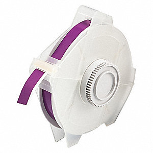 "Outdoor Polyester Label Tape Cartridge, Purple, 1/2""W x 100 ft."