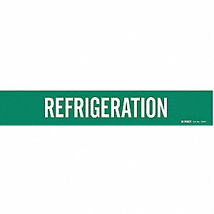 Pipe Mrkr,Refrigeration,2-1/2to7-7/8 In