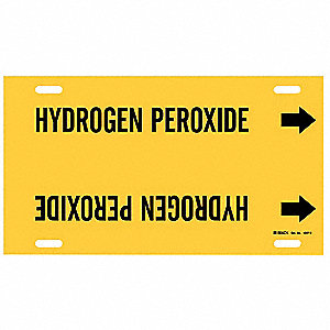 Pipe Markr,Hydrogen Peroxide,Y,10to15 In