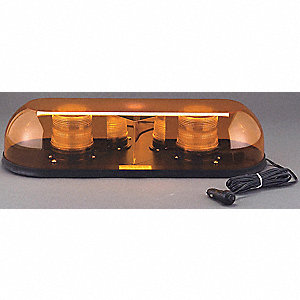 Amber Mini Light Bar, Magnetic Mounting, Number of Heads: 2