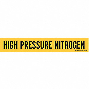 Pipe Mrkr,High Pressure Nitrogen,Black