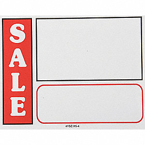 Sign Card,Sale,White,PK25