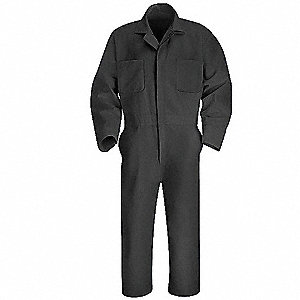 Coverall,Chest 50In.,Gray