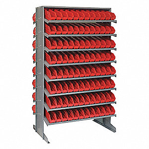 "Steel Pick Rack with 192 Bins, 36""W x 24""D x 60""H, Load Capacity: 800 lb., Gray"