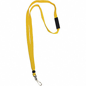BADGE LANYARD YLW COTTON,PK10