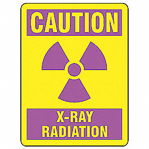 Caution Radiation Sign,14 x 10In,AL,ENG