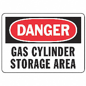 Danger Sign,7 x 10In,R and BK/WHT,PLSTC