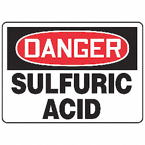 "Chemical, Gas or Hazardous Materials, Danger, Aluminum, 10"" x 14"", With Mounting Holes"
