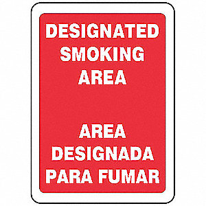 "No Smoking, No Header, Vinyl, 14"" x 10"", Adhesive Surface, Not Retroreflective"