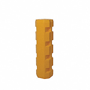 "Yellow Column Protector, Fits Column Size 6"", Fits Column Shape Square"