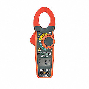 "Clamp On Digital Clamp Meter, -4° to 1400°F Temp. Range, 1-1/4"" Jaw Capacity, CAT III 600V"