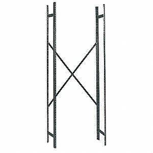 14 Gauge Steel Shelving Post Kit, Gray; PK1