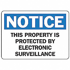 Notice Security Sign,7 x 10In,PLSTC,ENG