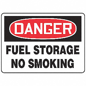 Danger No Smoking Sign,10 x 14In,PLSTC