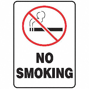 "No Smoking, No Header, Aluminum, 14"" x 10"", With Mounting Holes, Not Retroreflective"