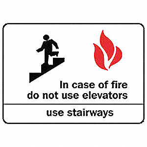 "Fire Exit Sign,7"" x 10"",Aluminum"