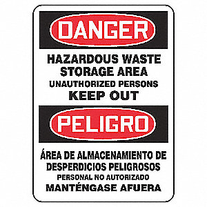 "Spanish-Bilingual Danger Sign,14""x10"""