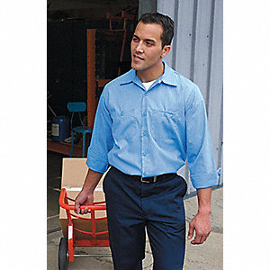 "Men's Industrial Work Pants, 65% Polyester/35% Cotton, Color: Charcoal, Fits Waist Size: 30"" x 34"""
