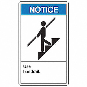 Notice Sign,10 x 7In,BL and BK/WHT,ENG