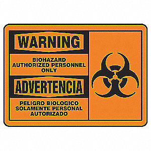 "Authorized Personnel and Restricted Access, Warning/Advertencia, Plastic, 7"" x 10"""