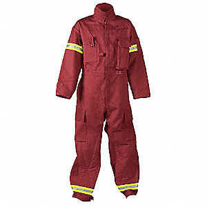 Extrication Coverall,Red,L Tall
