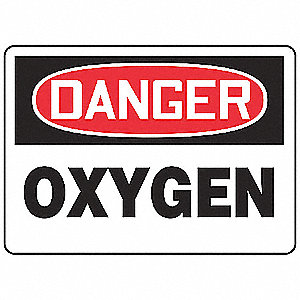 "Chemical, Gas or Hazardous Materials, Danger, Plastic, 10"" x 14"", With Mounting Holes"