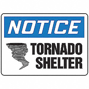 Notice Sign,7 x 10In,BL and BK/WHT,PLSTC