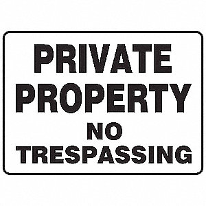 "Notice Sign,7""x10"",Aluminum"
