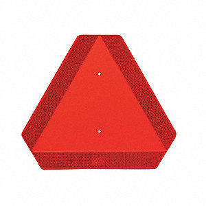 "16"" x 14"" High Impact ABS Vehicle Placard, Orange/Red"