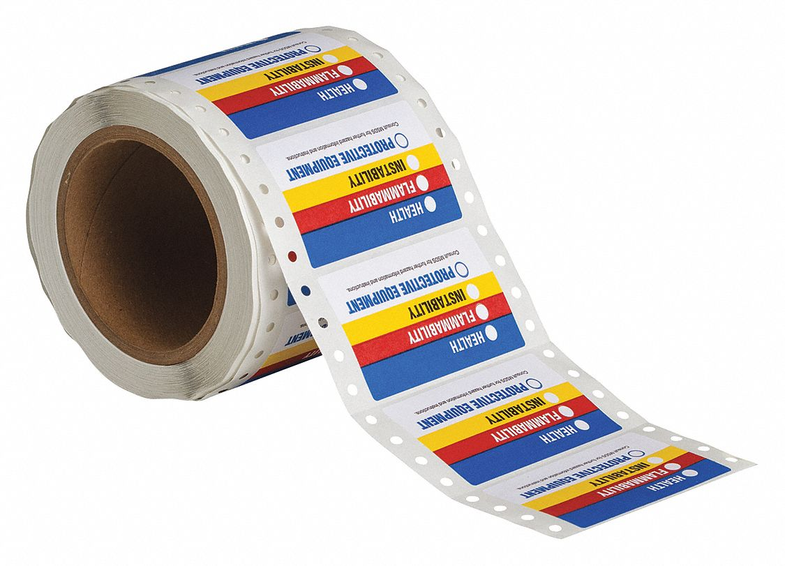 This is an image of Gorgeous Health Flammability Reactivity Labels