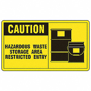 Caution Sign,7 x 10In,BK/YEL,AL,ENG,SURF