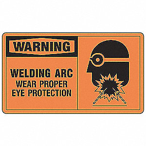 Warning Sign,7 x 10In,BK/ORN,ENG,SURF