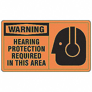 Warning Sign,7 x 10In,BK/ORN,AL,ENG,SURF