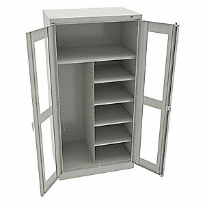 Combination Storage Cabinet,Light Gry