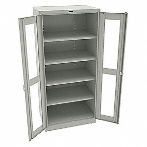 "Commercial Storage Cabinet, Light Gray, 78"" H X 36"" W X 24"" D, Unassembled"