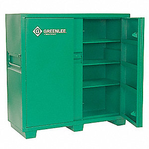 "56"" x 24"" x 60"" Jobsite Storage Cabinet, 46 cu. ft., Green"