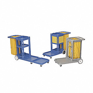 Janitor Cart Extension,Gray