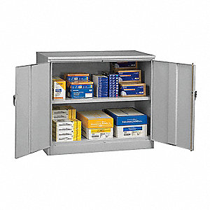 Utility Cabinet,18 x 48 x 42 In,Gray