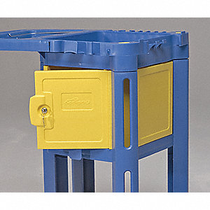 Yellow Locking Compartment, 1 EA
