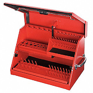 "Portable Tool Box, 16 gal. Steel, 22 1/2"" Overall Width x 13"" Overall Depth"