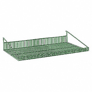 Antimicrobial Steel Shelf, Green, 1 EA