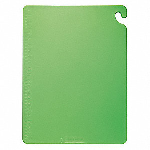 "Green Co-Polymer Cutting Board, 20"" x 15"" x 1/2"""