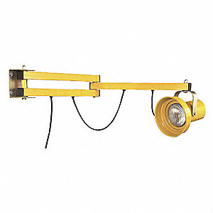 "Incandescent Dock Light, 90"" Arm Length, 150/300 Lamp Watts, 115 Voltage"