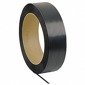 6600 ft. Polypropylene Strapping, Black; Break Strength: 600 lb.