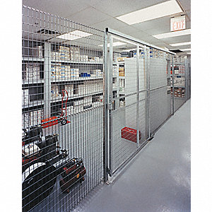 Wire Partition Post Extension,8ft.