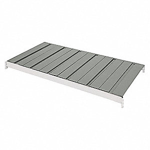 "72"" x 24"" Ribbed Steel Decking, Gray"
