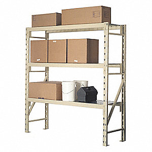Steel (Beam, Desk, Frame) Shelf with 2305 lb. Load Capacity, Tan