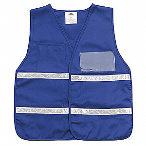 Safety Vest,Blue,Universal