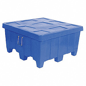 Container,18 cu.-ft.,500 lbs.,Blue